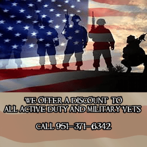 Military Discount | Active Duty Military and Retired Military always receive discounts. So active or retired we appreciate you and want to help.